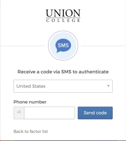 Screenshot SMS code pop up