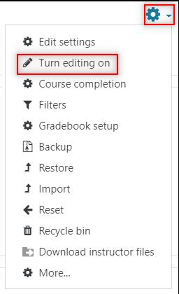 Image: Nexus turn editing on