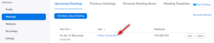 Image: Zoom meeting menu