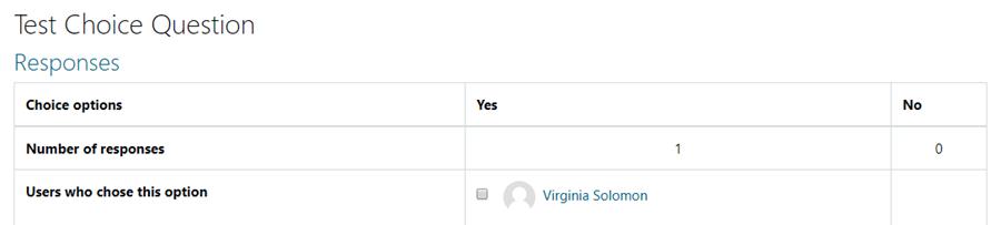 Image: Nexus- Choice Response page