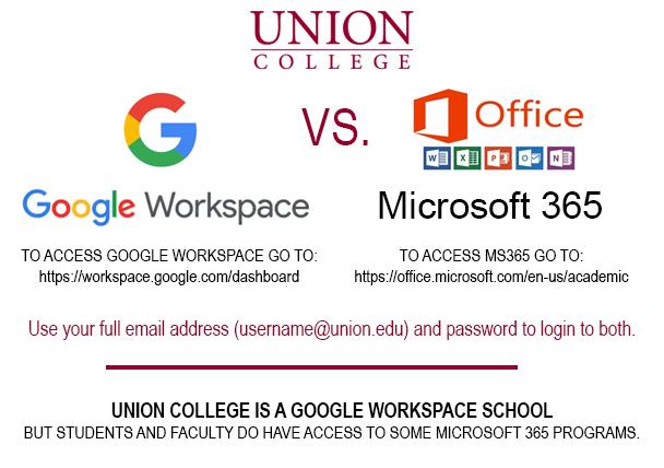 Image: poster showing Google Workspace vs. Microsoft 365