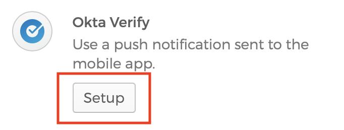 Screenshot of Okta verify pop up