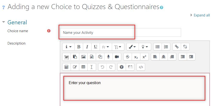 Image: Nexus- Choice description area