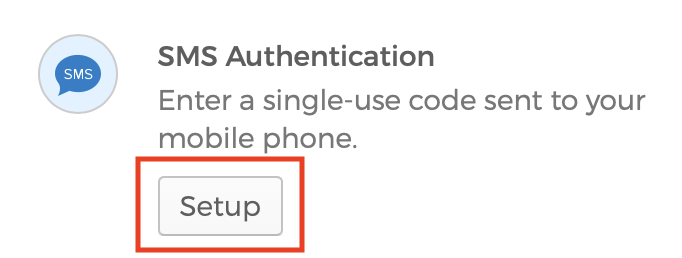 Screenshot of SMS Authentication