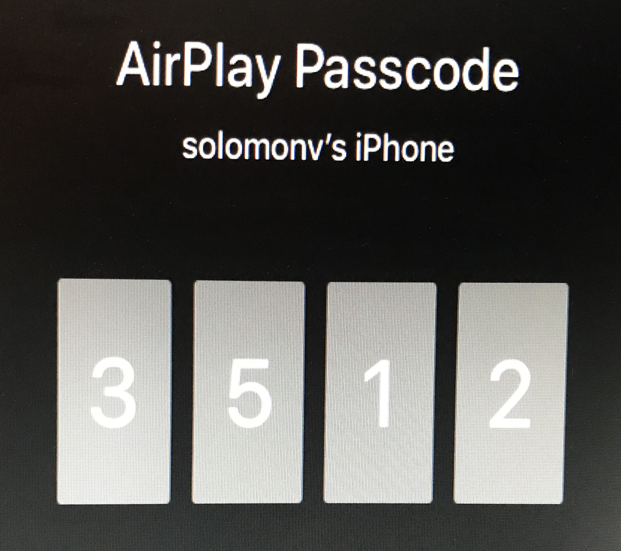 Image: Apple Airplay code
