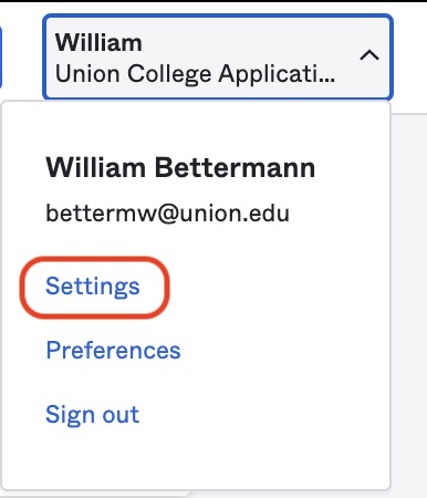 Click on Settings