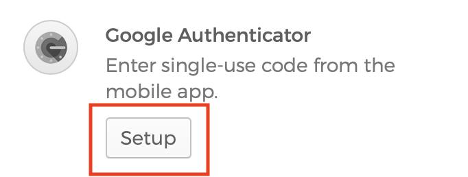 Screenshot of Google Authenticator