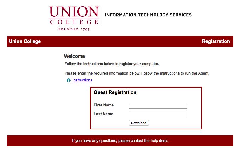 Image: Mac: Bradford information entry screen