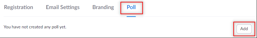 Image: Zoom- add new poll