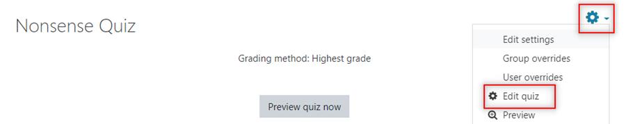Image: Nexus- quiz summary page