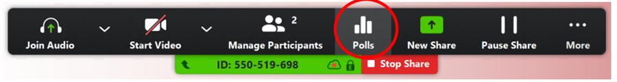 Image: Zoom- Polls icon
