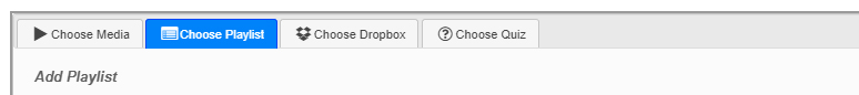 Image: Nexus-Ensemble Choose Playlist tab