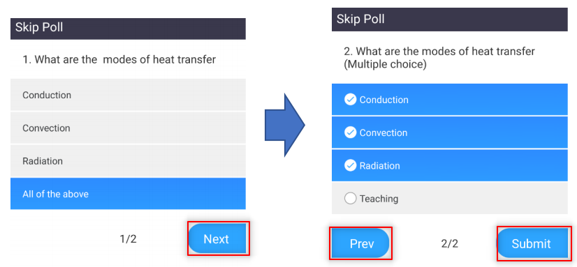 Image: Zoom- student view of poll