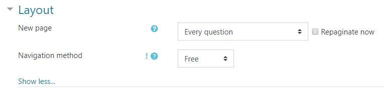 Image: Nexus quiz layout screen