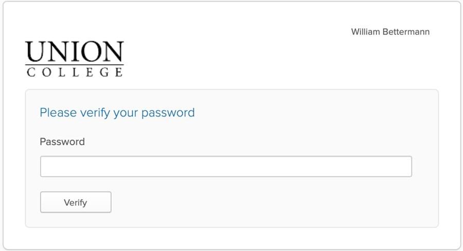 Union account password.