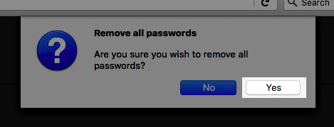 Image: Firefox conform password removal window