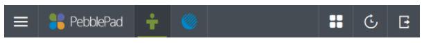 Image: PeblePad navigation bar