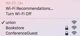 Image: Mac: ensure wireless is on