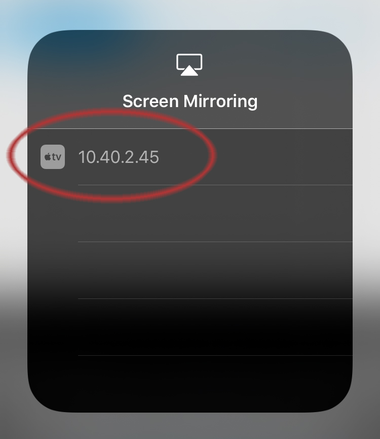 Image: Mirroring list