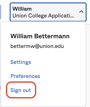 Sign out to save settings.