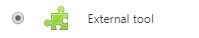 Image: choosing the external tool in Nexus