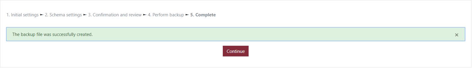 Image: Continue button