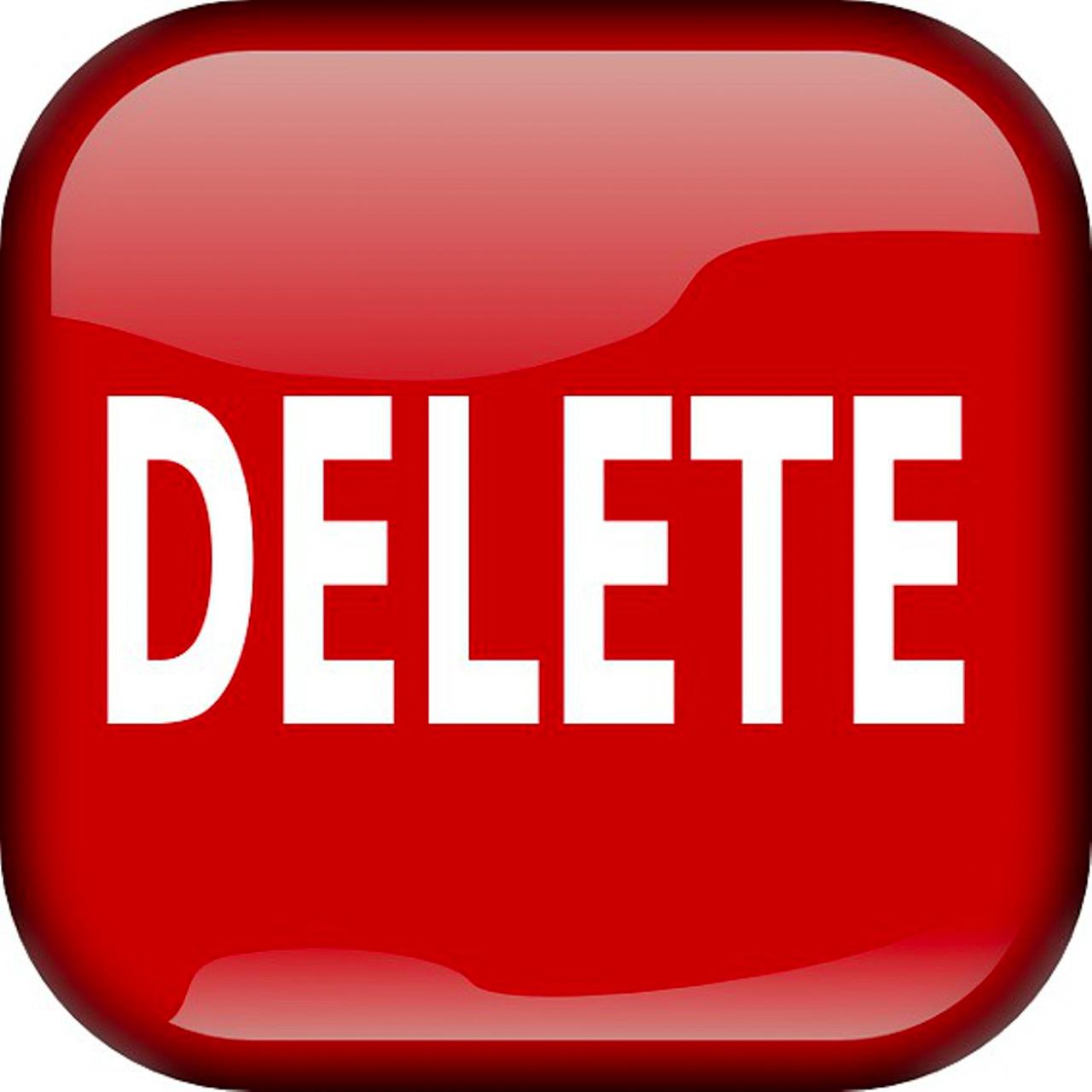 Image: Delete button icon