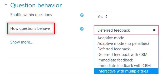 Image: Nexus- question behavior options