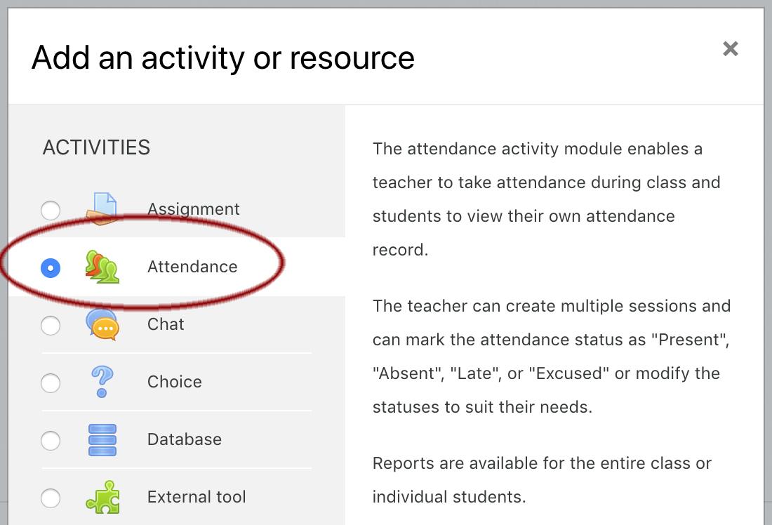 Image: Nexus - add an activity