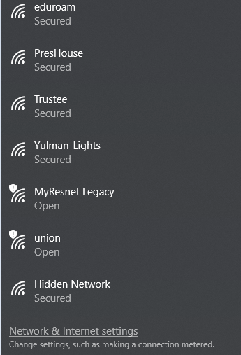 Image: Available Network List