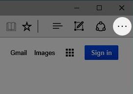 Image: Menu button location for Microsoft Edge