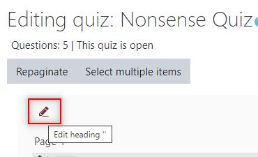Image: Nexus- edit heading pencil icon